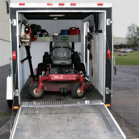 enclosed trailer landscape setups motorcycle review and