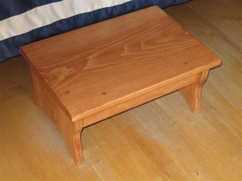 One Step Step Stools For Adults by Handcrafted Heavy Duty Step Stool Solid Wood Bedside
