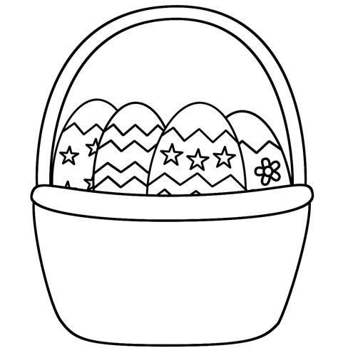 How To Make A Coloring Page From A Photo easter basket coloring pages getcoloringpages