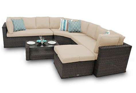 round sofa set rattan corner sofa set new brantwood round back 5 piece