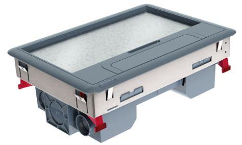 pisos de caixa grupo legrand apresenta caixas de piso para otimizar