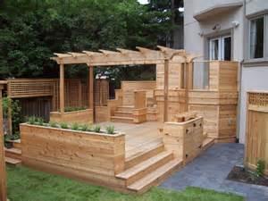 built in deck planters my gardens