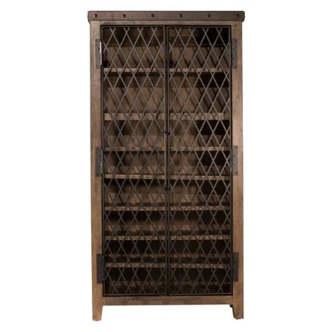 distressed wood wine cabinet wine cabinet wood metal distressed walnut