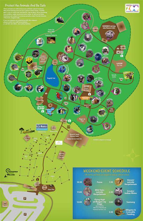 central florida map central florida zoo and botanical gardens wedding garden