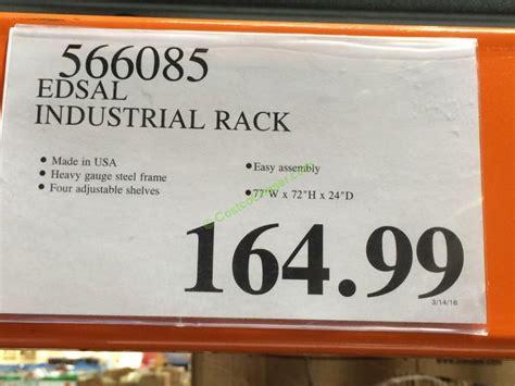 costco 566085 edsal industrial rack tag costcochaser