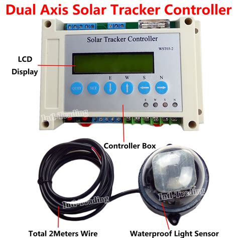 aliexpress buy dc 12 24v dual axis solar tracking tracker electronic controller for pv