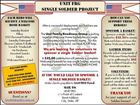 Frg Leaders Single Soldier Project Fundraising Gonna Kick Deployments Butt Pinterest Army Frg Newsletter Template