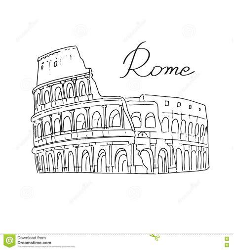 fondo di roma fondo di bianco di roma italia colosseo illustrazione