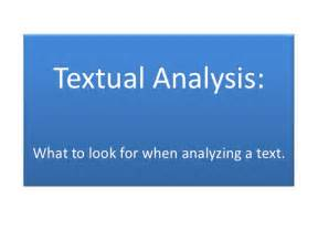 How To Write A Textual Analysis Paper Textual Analysis
