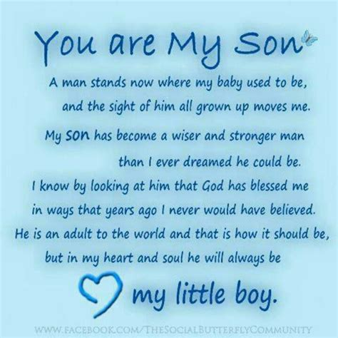 blessed to have mom i am so blessed to have 3 wonderful sons in my life