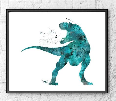 dinosaur home decor dinosaur watercolor watercolor art dinosaur poster home
