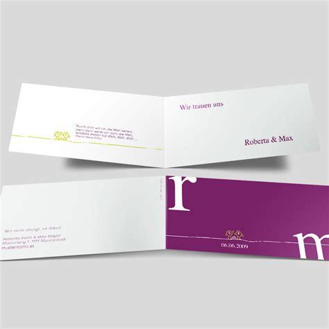 Hochzeitseinladungen Violett by Hochzeitseinladung Zwei Turtelt 228 Ubchen Violett
