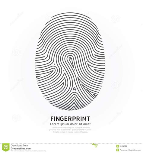 fingerprint template fingerprint color vector design illustration stock vector
