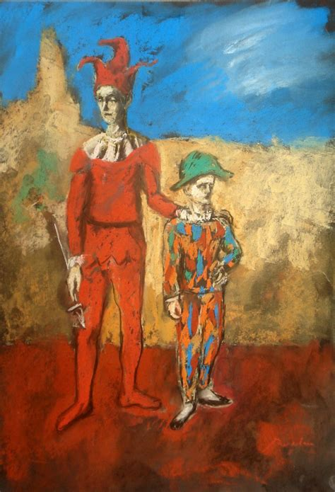 picasso paintings pink period picasso study 2 clowns by bogdantzigan on deviantart