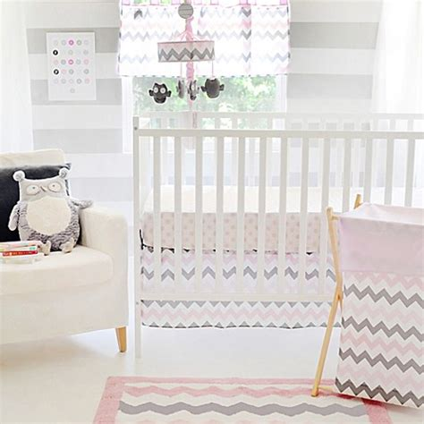 pink and gray chevron crib bedding my baby sam chevron baby crib bedding collection set in pink grey buybuy baby