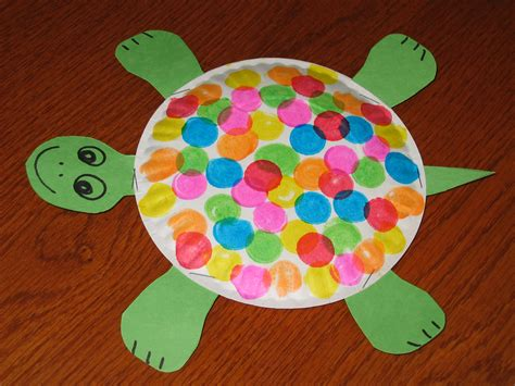Paper Crafts For Preschoolers - paperplate turtle