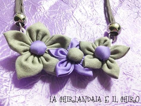 collane con fiori di stoffa collana con fiori di stoffa con collane con fiori di