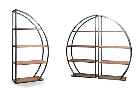 libreria rotonda libreria rotonda mezzaluna stile industry legno e ferro design