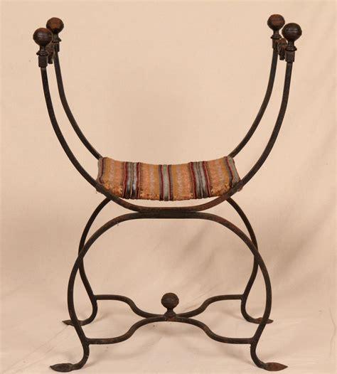 antique wrought iron bench 19th century antique wrought iron savonarola arm side