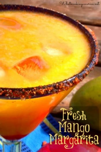 mango margarita recipe fresh mango margarita recipe whats cooking america