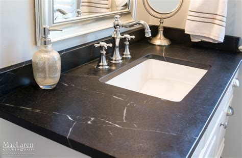 how to install bathroom countertop custom soapstone countertops maclaren kitchen and bath