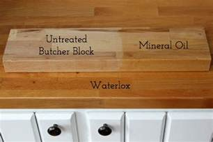 Stain Kitchen Cabinets Before And After treating butcher block countertops waterlox vs mineral