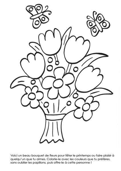 Coloriage 224 Imprimer Bouquet De Fleurs Au Printemps