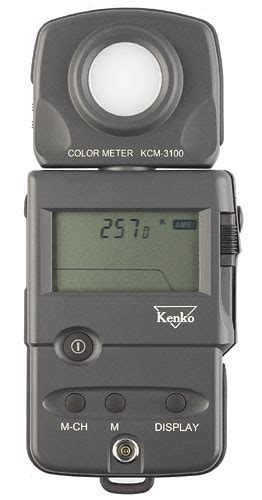 color temperature meter kenko kcm 3100 professional digital color temperature