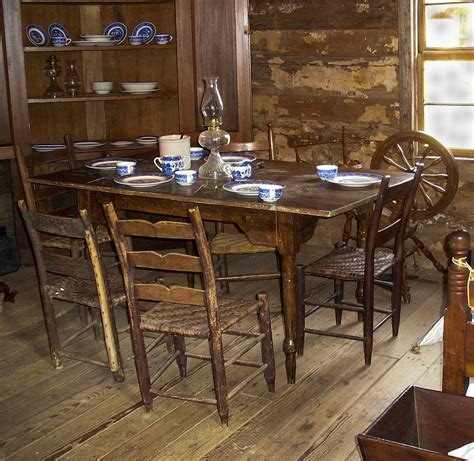 pioneer table setting pioneer kitchen table with place settings photograph by