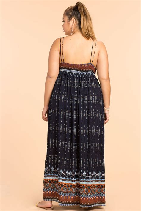 Bordira Maxi Dress s plus size maxi dresses boho border print maxi