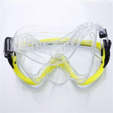 Kacamata Selam Pvc By Bakulteknik renang scuba anti kabut kacamata selam masker pvc kuning