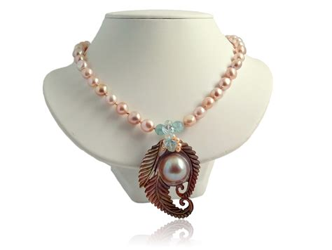 teresa giudice mabe pearl necklace 14k mabe pearl necklace swan island jewelry