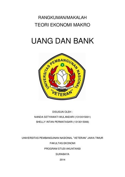 Ekonomika Indonesia makalah uang dan bank ekonomika makro