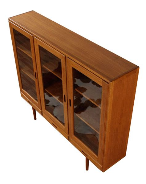 teak china cabinet vintage lighted teak china cabinet modernism