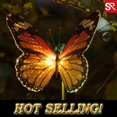 Optical Butterfly Change Color Solar L Lawn Led Light Butterfly Solar Lights Outdoor