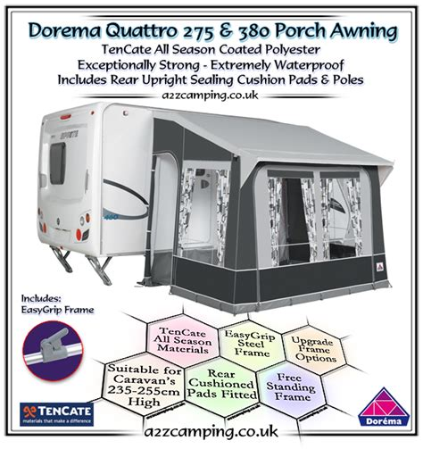 Starc Quattro Porch Awning by 2018 Dorema Quattro Caravan Porch Awning