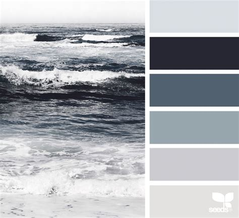 gray color schemes sea tones design seeds