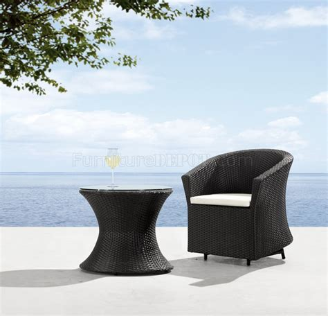 Modern Patio Chairs by Black White Modern 2pc Outdoor Patio Chair Coffee