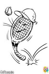 Kleurplaat Van Tennisracket sketch template