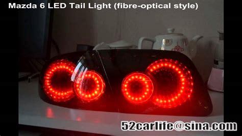 mazda 6 lights not working mazda6 mazdaspeed 4 fibre optical led tail lights youtube