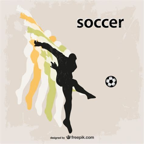 soccer play football soccer player silhouette vector free