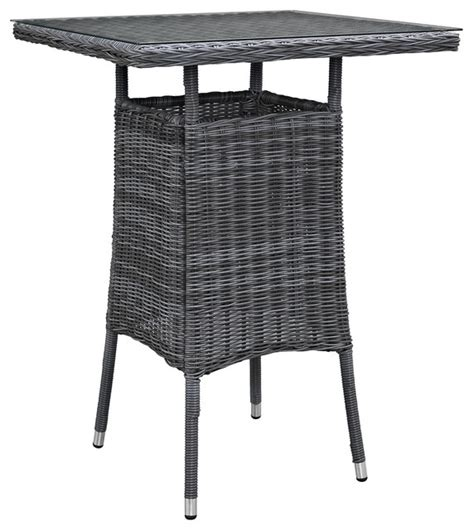 Small Outdoor Bistro Table Summon Small Outdoor Patio Bar Table Gray Tropical Outdoor Pub And Bistro Tables By