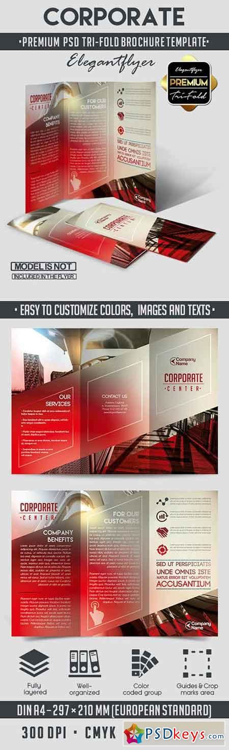 corporate tri fold psd brochure template 187 free download