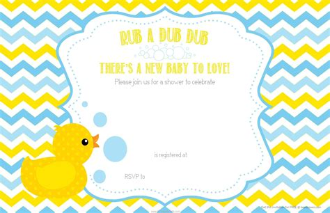 Duck Baby Shower Invitations by Free Printable Duck Chevron Baby Shower Invitation Baby