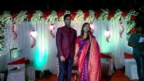 mrunal dusanis and neeraj more tied in nuptial knot mrunal dusanis with neeraj after engagement ring youtube