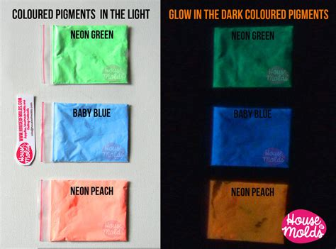 glow in the pigment powder for resin bicolor glow in the pigments for resin colour kitb of