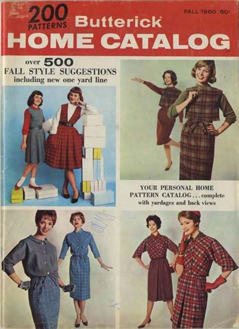 sewing pattern catalogs butterick catalog fall 1960 my vintage butterick