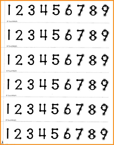 Free Touch Math Worksheets by Touch Math Printable Worksheets Geersc
