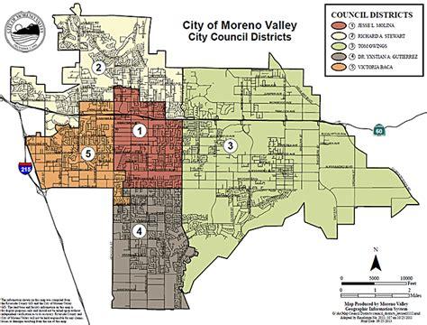 moreno valley california map city council redistricting 2014