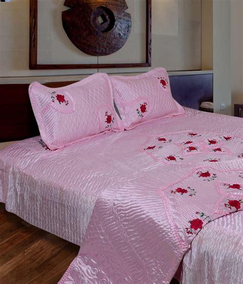 Pink Satin Bedding Sets Rajasthanikart Pink Satin Bedding Set Buy Rajasthanikart Pink Satin Bedding Set At Low